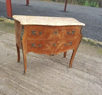 lovely marble top french chest of drawers