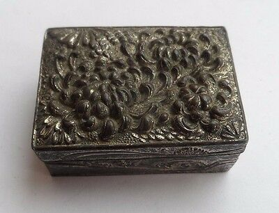Victorian Silver Plated Pill Box c-1880's No Reserve