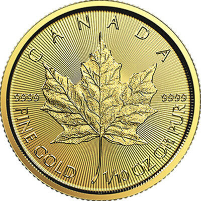 1/10 oz 2019 Gold Maple Leaf Coin - RCM .9999 Coin - Royal Canadian Mint