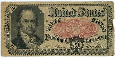 1875 50 Cent Fractional Currency Fr# 1380 Fifth Issue 50C