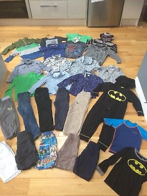 Huge Boys Clothes Bundle 3-4 Years Next M&S F&F Trousers Shirts Shorts Batman
