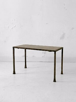 1960 Table Basse Sculpture Moderniste Bauhaus Marbre Constructiviste