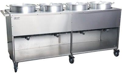 "Tamale Cart 78"" S/S (5 Pot 52 qtrs)  Made in USA. Ekono brand. 10% REDUCED PRICE"