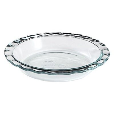 "Pyrex Easy Grab 9.5"" Glass Pie Plate (Pack of 3), New"
