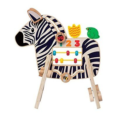 Manhattan Toy Safari Wooden Toddler Activity Toy for Ages 1 Year and Up (Zebra)