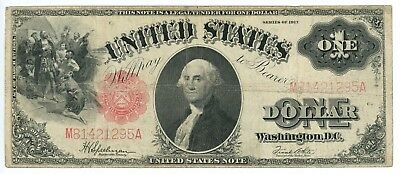 Series 1917 $1 Legal Tender Note Fr# 39 Speelman/White Small Red Scalloped