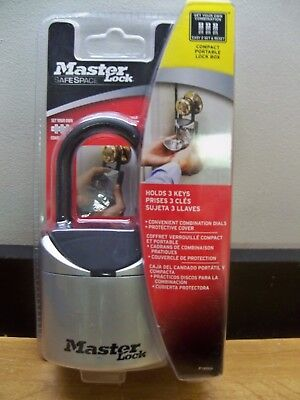 Master Lock 5406D Set Your Own Combination 3 Digit 3 Key Lock Box Free 1Stcls S&