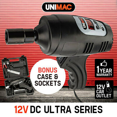 UNIMAC 12V Impact Wrench Rattle Gun - Wheel Nut Remover 1/2 Electric Car Volt