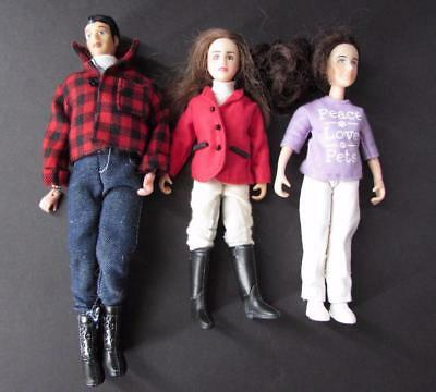 Breyer Horses Set of 3 Articulated Doll Figures - 2 Females and 1 Male
