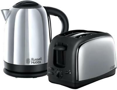 Russell Hobbs Lincoln Twin Pack 1.7l Polished Stainless Steel Kettle & Toaster