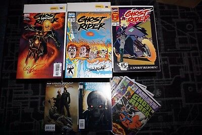Lot of 8 Ghost Rider Comic Books - Includes Signed Issues - Texeira, Wagner