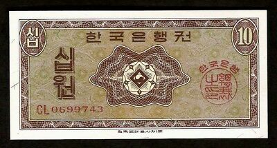Korea 10 Won 1962 UNC