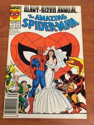 Amazing Spider-man Annual #21 FN/VF Marvel Comics Wedding issue