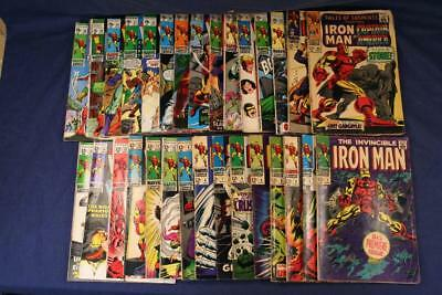 Lot of 30-Marvel Comics– IRON MAN –1967-70 Silver Bronze INCL Issues No.1-22