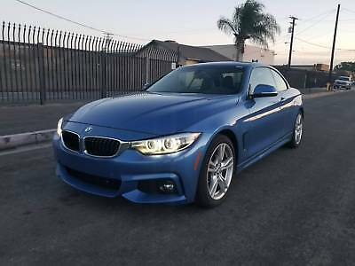 2018 BMW 4-Series 430i 430i M Backage 4 Series 2 dr Convertible Automatic BULE