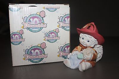 Dreamsicles Divine Rescue New in Box 2001 Firefighter Holding Child