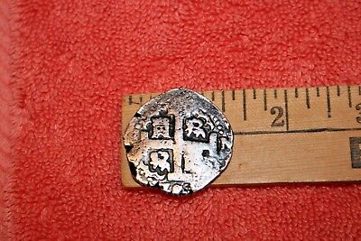 Antique Silver Piece of Eight Doubloon Coin