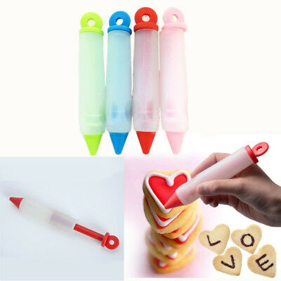 DIY Chocolate Fondant Cake Cookie Decorations Tools Silicone Cream Writing Pen