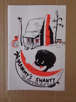 Black Americana Shanty Menu Atlanta Ga Coffee Shop Restaurant