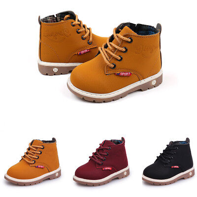 New Fashion Kids Baby Boys Girls Casual Winter Warm Martin Sneaker Boots Shoes