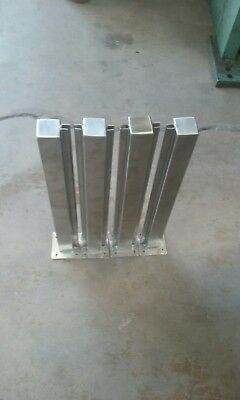 stainless steel sneeze guard brackets