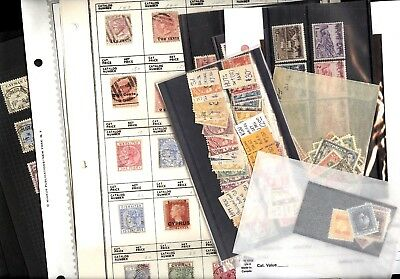 BRITISH COLONIES, CEYLON, CYPRUS, Excellent Assortment of Stamps hinged on pages