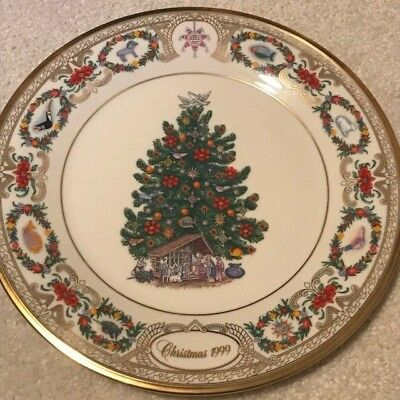 1999 Lenox Annual Limited Edition Christmas Trees Around The World Mexico Plate