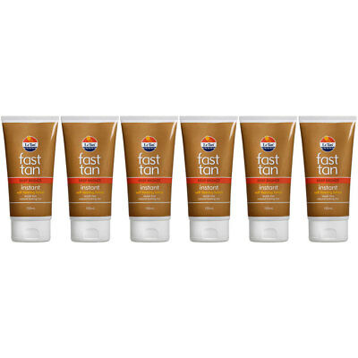6PK Le Tan Fast Tanning Lotion Deep Bronze 150ml Instant Streak Free Application