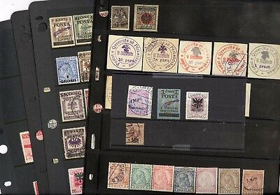 ALBANIA, Excellent Assortment of OLD Stamps in stock sheets