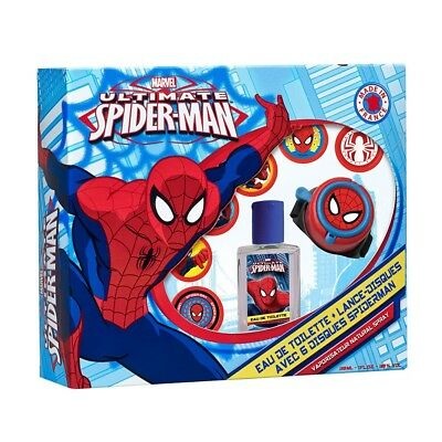Set colonia y reloj lanzadiscos Spiderman Marvel