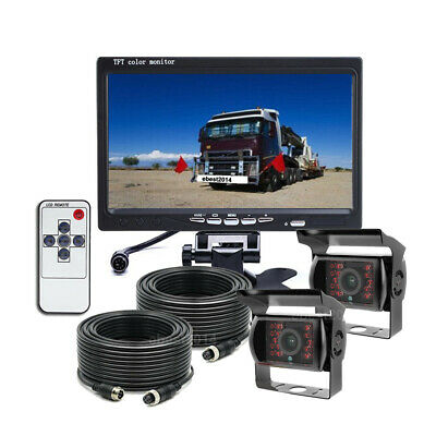 """7"""" Digital Rear View Backup Reverse Camera System Safety For Truck Tractor Rv"""