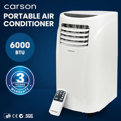 CARSON 4in1 Portable Air Conditioner 14000BTU Mobile Fan Cooler Dehumidifier