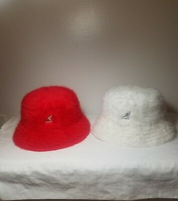 Kangol bucket hat size L red and white
