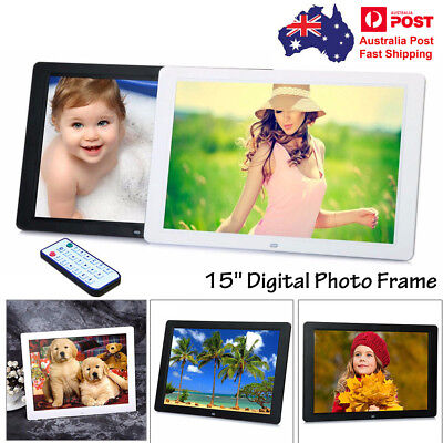 """15"""" LED HD Digital Picture Photo Frame Movie MP4 Player Remote Control -AU Stock"""