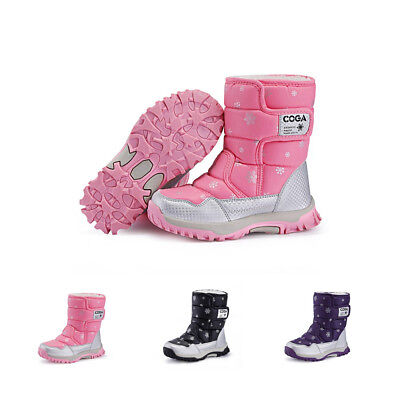 SITAILE Girls Waterproof Snow Boots Kids Baby Toddler Outdoor Winter Warm Shoes