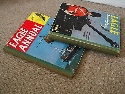 Vintage Eagle annuals 1962 1963 unclipped P&P OPTIONS GREAT XMAS PRESENT