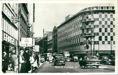 Argyle Street, Glasgow, Photographic Postcard.