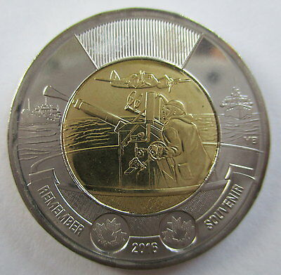 2016 Canada Toonie Battle Of The Atlantic Rememberance Day Coin - A