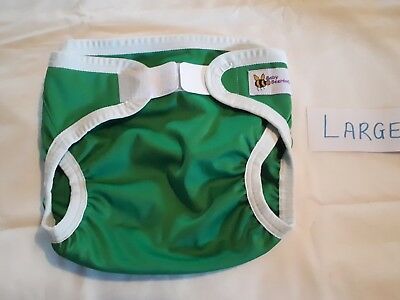 Baby Beehind nappy cover size large Green