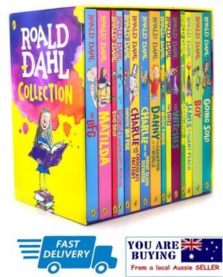Roald Dahl Set Phizz Whizzing Collection 15 Classic Books Box Set - Brand New