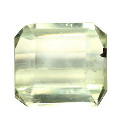 6.97Ct Supreme Octagan cut 11 x 11 100% Natural Top Luster Yellow Kunzite