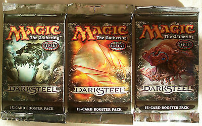 Magic The Gathering MTG DARKSTEEL Booster Packs x3 (all diff art) - New & Sealed