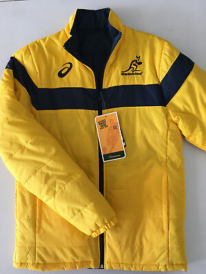 Australia Wallabies Rugby Reversible Jacket Mens S M 2Xl New By Asics Rrp $140