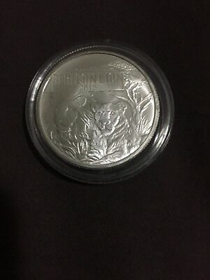 2015 Silver Burundi lion coin .999 Low Mintage With COA certificate Rare Coin