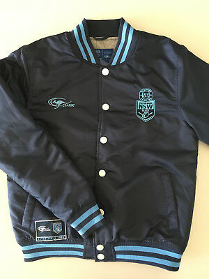 Nsw Blues State Of Origin Baseball Jacket Mens M L Xl New By Classic Rrp $100