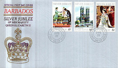 Barbados 1977 Silver Jubilee Official First Day Cover Fdi Cancel