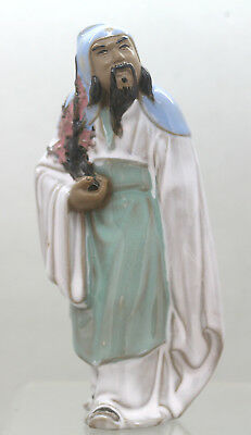 Finest Quality Handmade Vintage Chinese Porcelain Statue Of A Sage