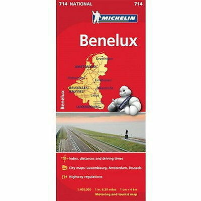 Benelux Michelin National Map 714 Motoring and Tourist 2016