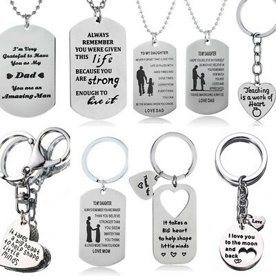 Gift For Mum Dad Son Daughter Sister Necklace Keyring Mother Mom Presents Family