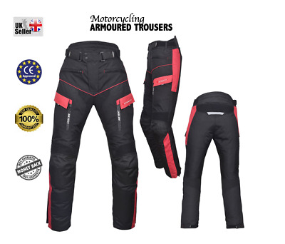 Motorbike Motorcycle Textile Trousers, Cordura CE approve Armour Waterproof